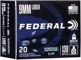 Federal Syntec 9MM Luger 138 Grain Synthetic Jacketed Hollow Point Cartridge