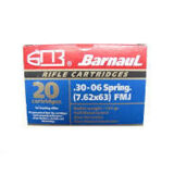 Barnaul 30-06 Springfield 145gr FMJ Box of 20 Zinc Plated