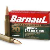 Barnaul 308 Win, 145gr, FMJ, Box of 20