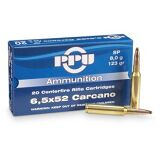 PPU 6.5x52 Carcano 139 Gr. FMJ BT Box of 20