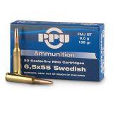 PPU 6.5x55 Swedish 139 Grain FMJ-BT Box of 20