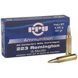 PPU Rifle Ammo,FMJBT,1000 Rd/Box 223Rem55Gr