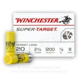 Winchester super-target 20ga, 2-3/4 , 7/8oz,  #8 / 25 Rounds