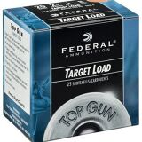 "Federal Federal Top Gun Target Shotshells TG2075, 20 Gauge, 2.75"", 7/8 oz, 1210 fps, #7.5 Shot, 250 Rd/case"