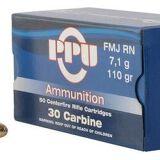 PPU PPU  30 Carbine SP RN 110 GR 500 Rounds