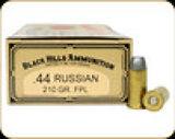 Cimarron - 44 Russian - 210 Gr - Black Hills - Lead Flat Point - 50ct