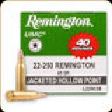Remington - 22-250 Rem - 45 Gr - UMC - Jacketed Hollow Point - 40ct - 56277