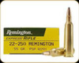 Remington - 22-250 Rem - 55 Gr - Express - Pointed Soft Point - 20ct - 21311
