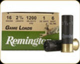 "Remington - 16 Ga 2.75"" - 1 oz - 6 Shot - Game Loads - 25ct - 20034"