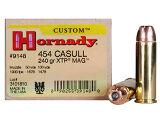 Hornady Custom 454 Casull 240gr XTP JHP Box of 20