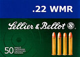 Sellier & Bellot 22 WMR, 45gr Copper Plated RN, 50 Rounds