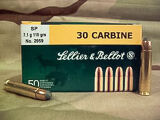 Sellier & Bellot 30 Carbine, 110gr SP, Box of 50