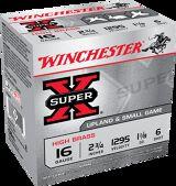 """Winchester Super X Hi Brass 16 Ga 2 3/4"""", 1 1/8 Oz, #6 25 Rds"""