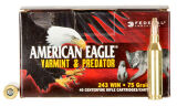 Federal 243 Win, JHP,  75 Gr. Varmint Value Pk, 40 Rds
