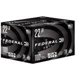 Federal Black Pack 22 LR 38 Gr, JHP, 1100 Rds