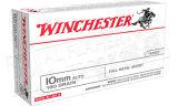 Winchester 10mm AUTO White Box - 180 Gr FMJ Box of 50 #USA10MM