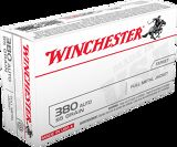 Winchester USA 380 Auto 50 Rounds 95 gr FMJ