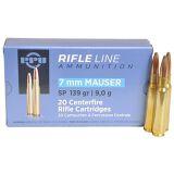 PPU 7MM Mauser SP 139gr (20rds)
