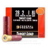FEDERAL PREMIUM 28 GA #8 1/2 SHOT TARGET LOAD 25/BOX T280 8.5