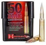 Hornady Match Rifle Ammo - 50 BMG, 750Gr, A-MAX Match, 10rds Box