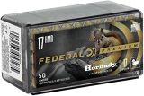 Federal Premium V-Shok Rimfire Ammo - 17 HMR, 17Gr, Hornady V-Max Polymer Tip, 500rds Brick