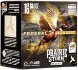 """Federal Premium Prairie Storm FS Lead Load Shotgun Ammo - 16Ga, 2-3/4"""", 1-1/8oz, #5, 25rds Case, 1425fps"""