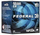 """Federal Top Gun Target Load Shotgun Ammo - 20Ga, 2-3/4"""", 2-1/2DE, 7/8oz, #9, 250rds Case"""