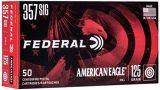 Federal American Eagle Handgun Ammo - 357 Sig, 125Gr, FMJ, 50rds Box