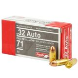 Aguila .32 Auto, 71 Grain FMJ (Box of 50)