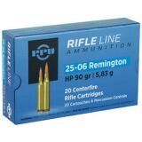 PRVI AMMO 25-06 REMINGTON 90gr HP 20/Box