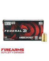 Federal American Eagle - 10mm, 180gr, FMJ, Box of 50 [AE10A]