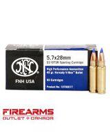 FNH USA Ammunition - 5.7x28mm, 40gr, Hornady V-Max, Box of 50 [SS197SR]