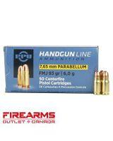 PPU Prvi Partizan - 7.65mm (.30 Luger), 93gr, FMJ, Box of 50 [PPH765P]