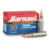 Barnaul 308 Win 168gr FMJ Ammunition Box of 20