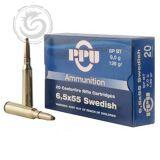 Prvi PPU 6.5×55 Swedish 139 Grain FMJ BT Ammunition Box of 20