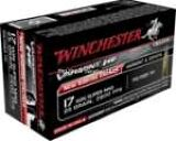 Winchester S17W25 Varmint HE Rimfire Ammo 17 WSM, Polymer Tip, 25 Grains, 2411 fps, 50 Round