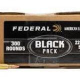 Federal 223 Rem Black Pack 55gr FMJBT – 300RDS/Pack