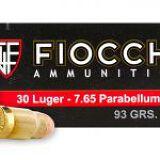 30 LUGER FMJ 93gr FIOCCHI