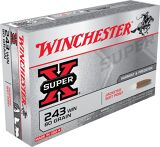Super-X .243 WIN cal Ammunition - 80 gr - 20/Box