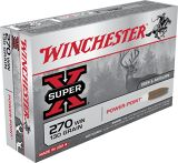 Super-X Power-Point .270 WIN cal Ammunition - 130 gr- 20/Box